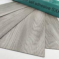 Самоклеючий вініловий ламінат SXP FLOORING Сіре дерево гнучкий водостійкий дошки плитка ПВХ поштучно