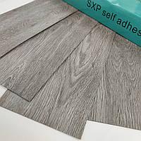 Водостійкий Ламінат Дерево Сірий Ясен SXP FLOORING гнучкий вініловий підлогу самоклеюча плитка поштучно, фото 1