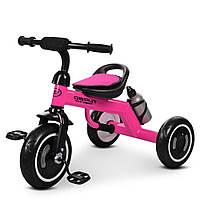 Детский трехколесный велосипед, с ручкой-переноской, накладкой на сиденье и бутылочкой, M 3648-6 Turbo Trike