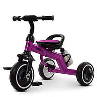 Детский трехколесный велосипед, с ручкой-переноской, накладкой на сиденье и бутылочкой, M 3648-9 Turbo Trike