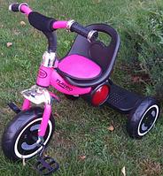 Детский трехколесный велосипед, подножка, подсветкой колес, накладка на сиденье, музыка, M 3650-6 Turbo Trike