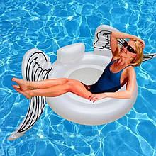 Оригинальный яркий пляжный надувной матрас крылья Ангела, большой детский плот для плавания круглый