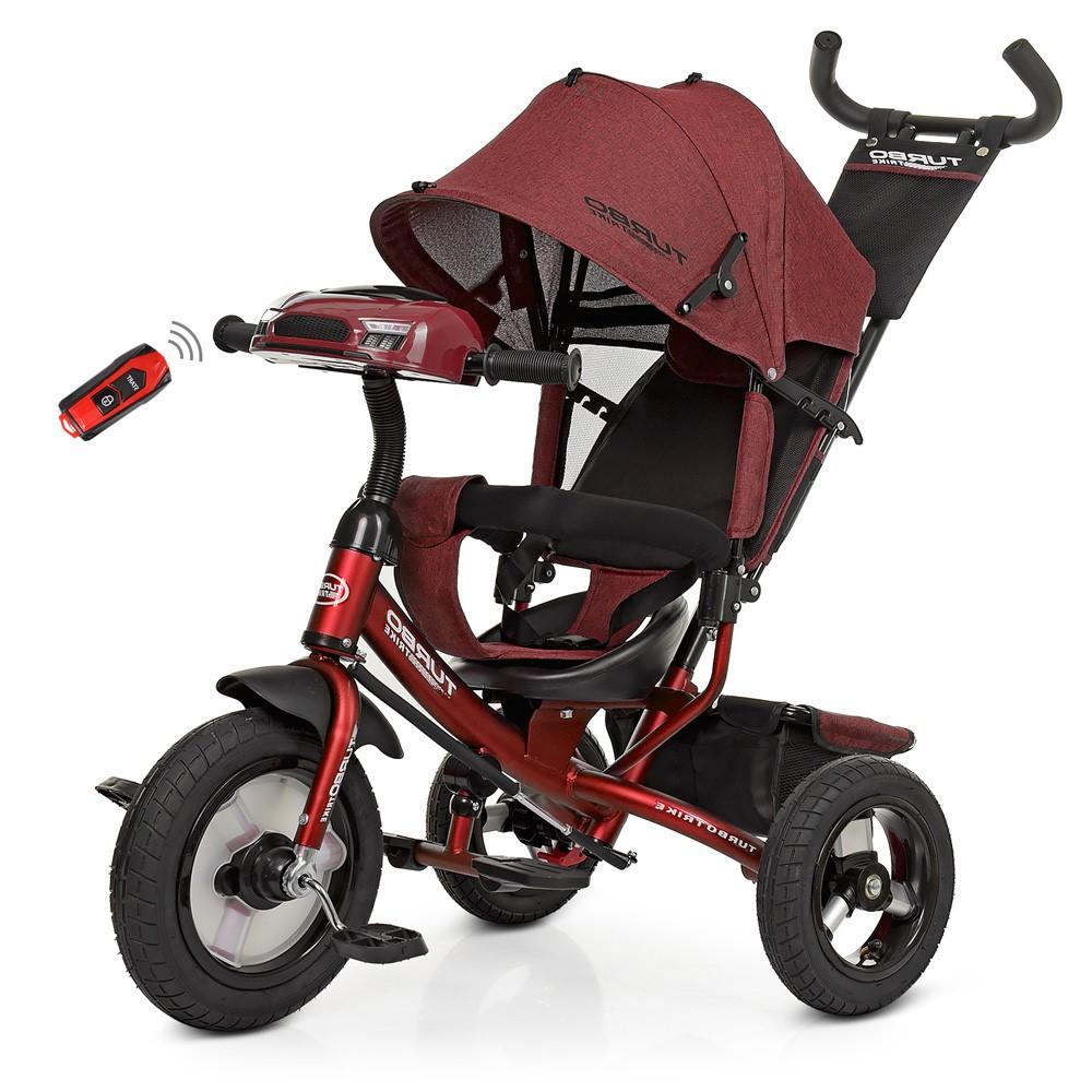 Детский трехколесный велосипед, свободный ход, музыкальная панель, родительская ручка, M 3115HA-3L Turbo Trike