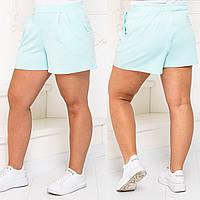 Жіночі літні короткі шорти №7281 (р. 48-62) м'ята