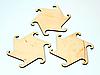 Підставка під чашку з дерева 6 шт з геометричною формою, фото 2