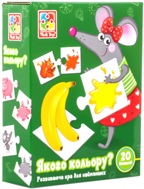 Дитяча розвиваюча гра-пазл «Якого кольору?» VT1804-29, 20 деталей
