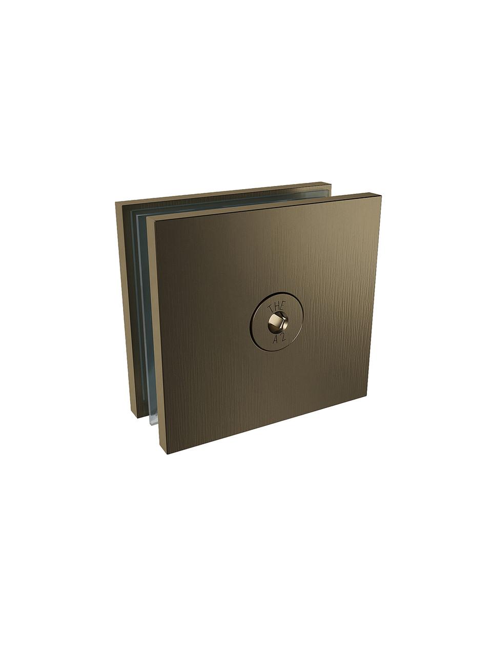 ODF-01-17-30 З'єднувач скла 180 градусів (через підлозі-отвір), колір матова бронза