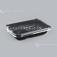 Одноразовый контейнер с крышкой УК-505-02, PР, черный, 550 мл, 230 шт/уп