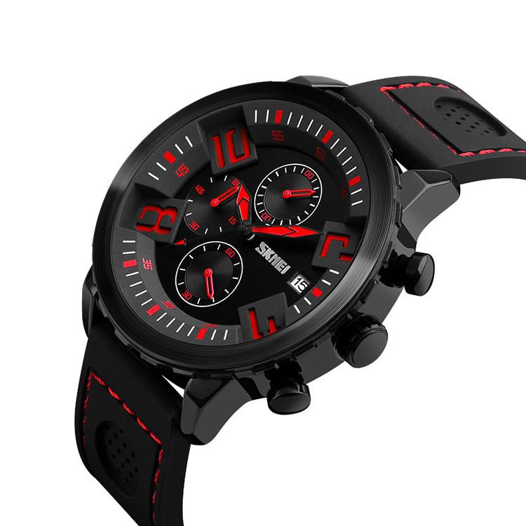 Skmei 9153 Razer чорні з червоним чоловічі класичні годинник
