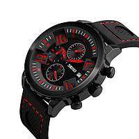 Skmei 9153 Razer чорні з червоним чоловічі класичні годинник, фото 1