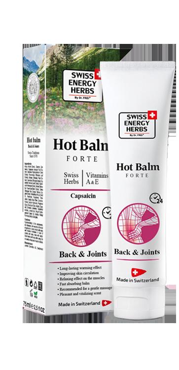 Бальзам Swiss Energy Hot Balm Forte зігріваючий з капсаіцином 75мл, Швейцарія (4854)