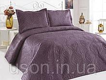 Велюровое покрывало евро размера ТМ Le vele цвет К.murd velur фиолетовое