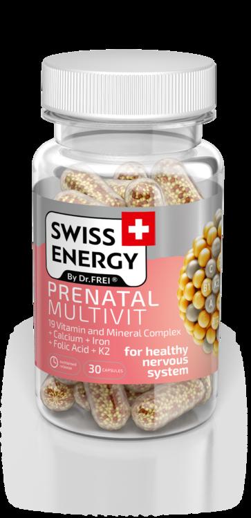 Вітаміни в капсулах Swiss Energy Prenatal Multivit, №30, Швейцарія (4243)