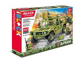 Дитячий Конструктор iBlock Машина Hummer 320 деталей