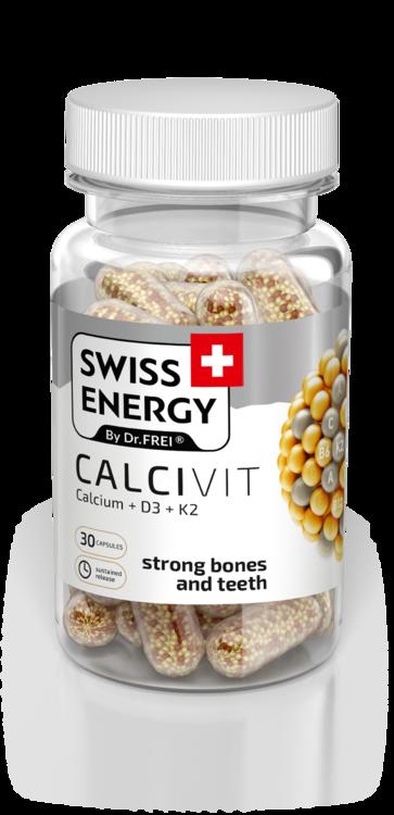 Вітаміни в капсулах Swiss Energy Calcivit №30, Швейцарія (4229)