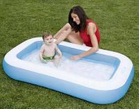 Надувной детский бассейн  с надувным дном INTEX 166х100х28 см  | детский басейн | дитячий надувний басейн