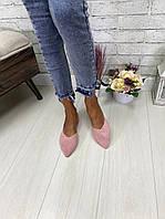 Жіночі туфлі човники з натуральної замші. Розміри 36-41, фото 1