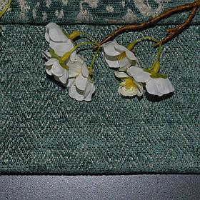 Мебельная ткань шенилл Бламо (Blammo) с мелким геометрическим узором бирюзового цвета