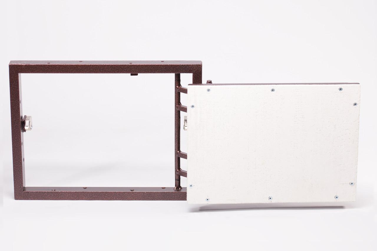 Люк під плитку настінний нажимний зсувний без регулювання 350х650х60