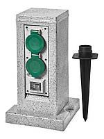 Блок розеток для сада Delux Spike STA-204GGS 4шт 16А 3680W