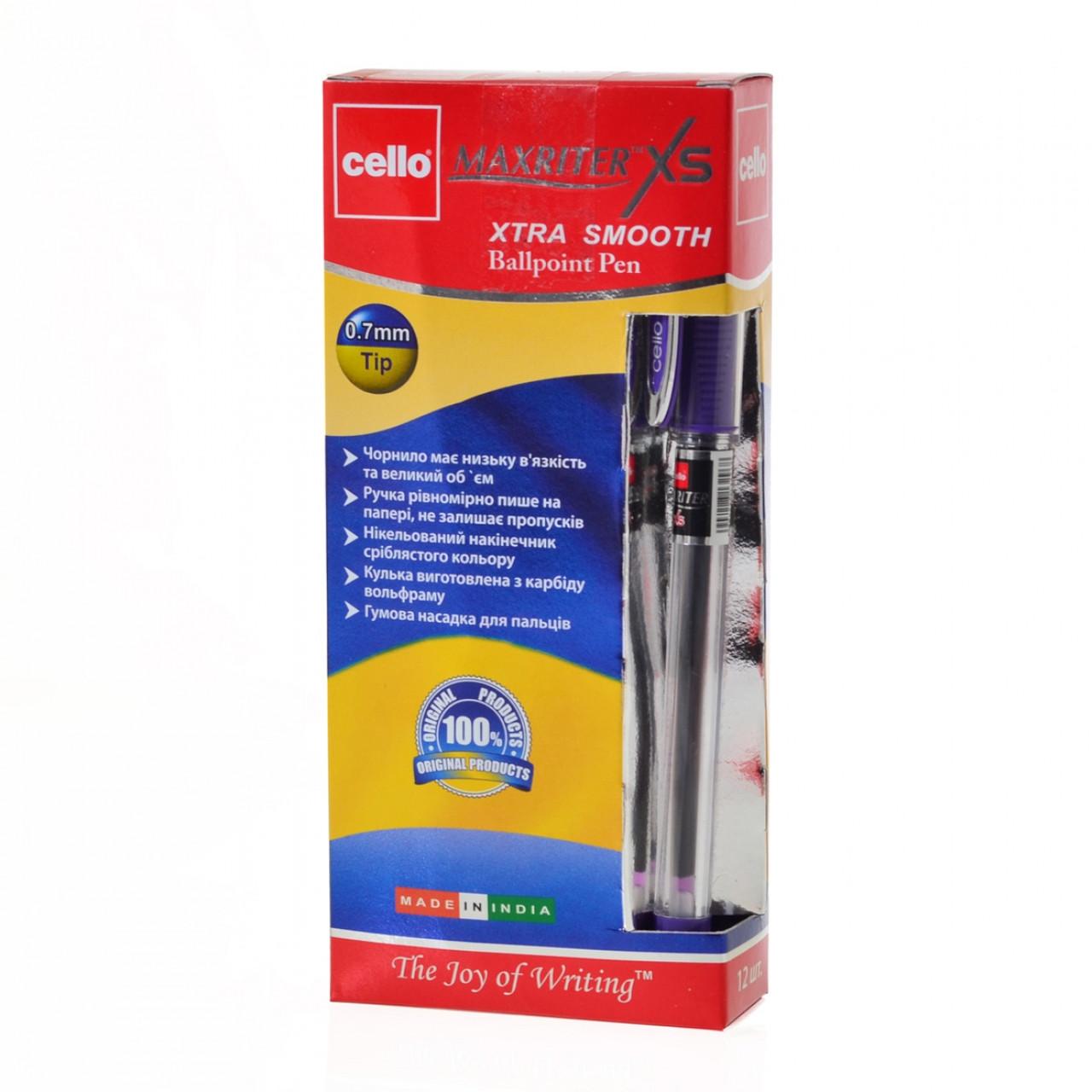 "Ручка шариковая масляная Cello ""Maxriter XS"", фиолетовая, 12 штук, 411842"