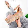 Босоніжки жіночі Lambek беж 3974, фото 8