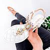 Босоножки женские Diamond белые 3994, фото 3