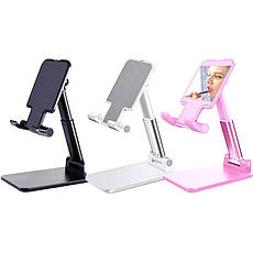 Настільна підставка для телефону, планшета тримач складаний Pink, фото 2