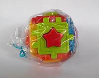 Логічний куб-сортер 10х10х10см в пакеті, фото 1
