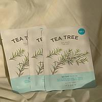 Корейская успокаивающая тканевая маска для лица с экстрактом чайного дерева it`s skin