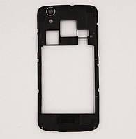 Средняя-задняя часть корпуса, черная со стеклышком для камеры Prestigio MultiPhone 5453, Б/У