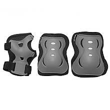 Комплект захисний на коліна лікті для роликів, скейта, пенниборда SportVida Size L Grey/Black M41-277755