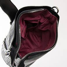 Сумка Женская кроко на цепочке кожзам FASHION 01-04 16909 черная, фото 3