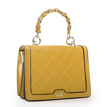 Красивая женская сумочка-клатч кожзам FASHION 01-04 18576 желтая, фото 2
