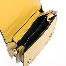 Красивая женская сумочка-клатч кожзам FASHION 01-04 18576 желтая, фото 3