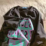 Жіноча футболка оверсайз прямого крою з написом на грудях повсякденна (р. S-L) 6817551, фото 4