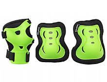 Комплект захисний на коліна лікті для роликів, скейта, пенниборда SportVida SV-KY0001-L Size L Black-Green