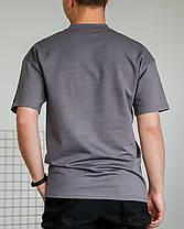 Футболка мужская базовая серого цвета, фото 3