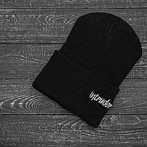 Шапка и перчатки комплект черный, фото 2