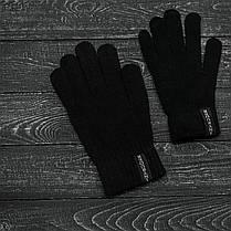 Шапка и перчатки комплект черный, фото 3