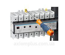 Выключатель напряжения (рубильник) поворотный АВР Hager HIC406A с мотоприводом, фото 3