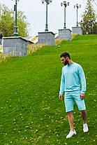 Кофта и шорты комплект мужской голубой, фото 2