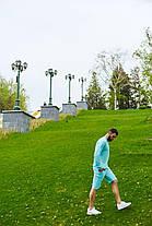 Кофта и шорты комплект мужской голубой, фото 3