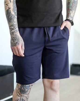 Шорти чоловічі базові літні темно-сині. Чоловічі літні шорти темно-синього кольору без принтів., фото 2