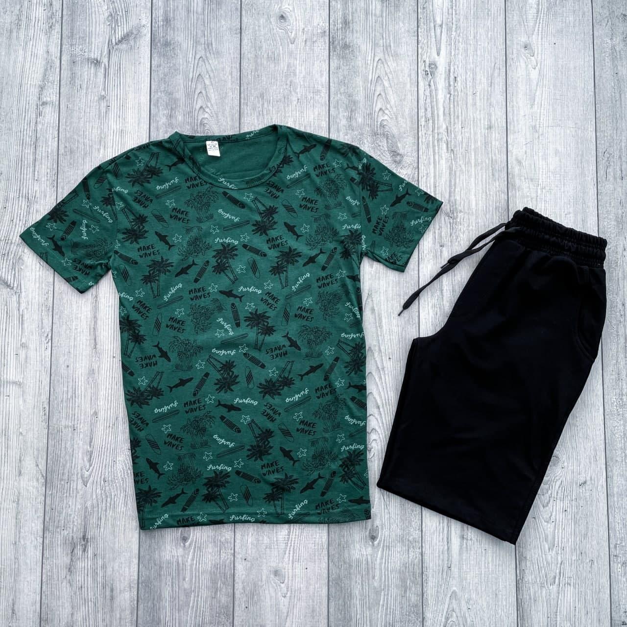 Футболка + шорти чоловічий комплект. Літній костюм шорти + футболка.
