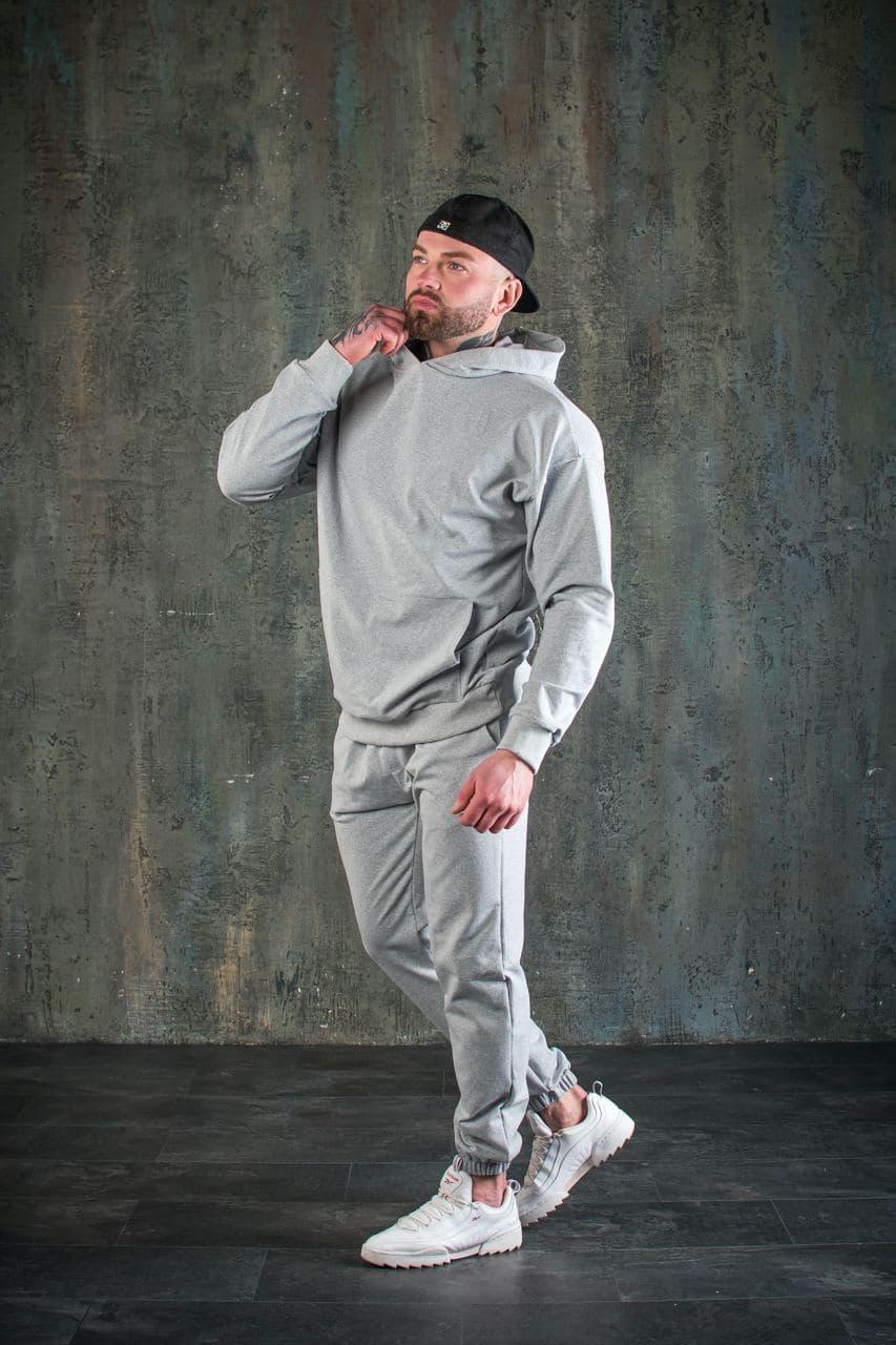 Костюм мужской спортивный оверсайз серый