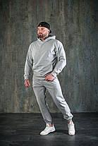 Костюм мужской спортивный оверсайз серый, фото 2