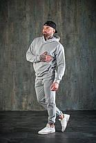 Костюм мужской спортивный оверсайз серый, фото 3