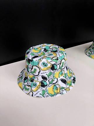 Панама річна унісекс двостороння з принтом. Жіноча / чоловіча капелюх з модним принтом., фото 2