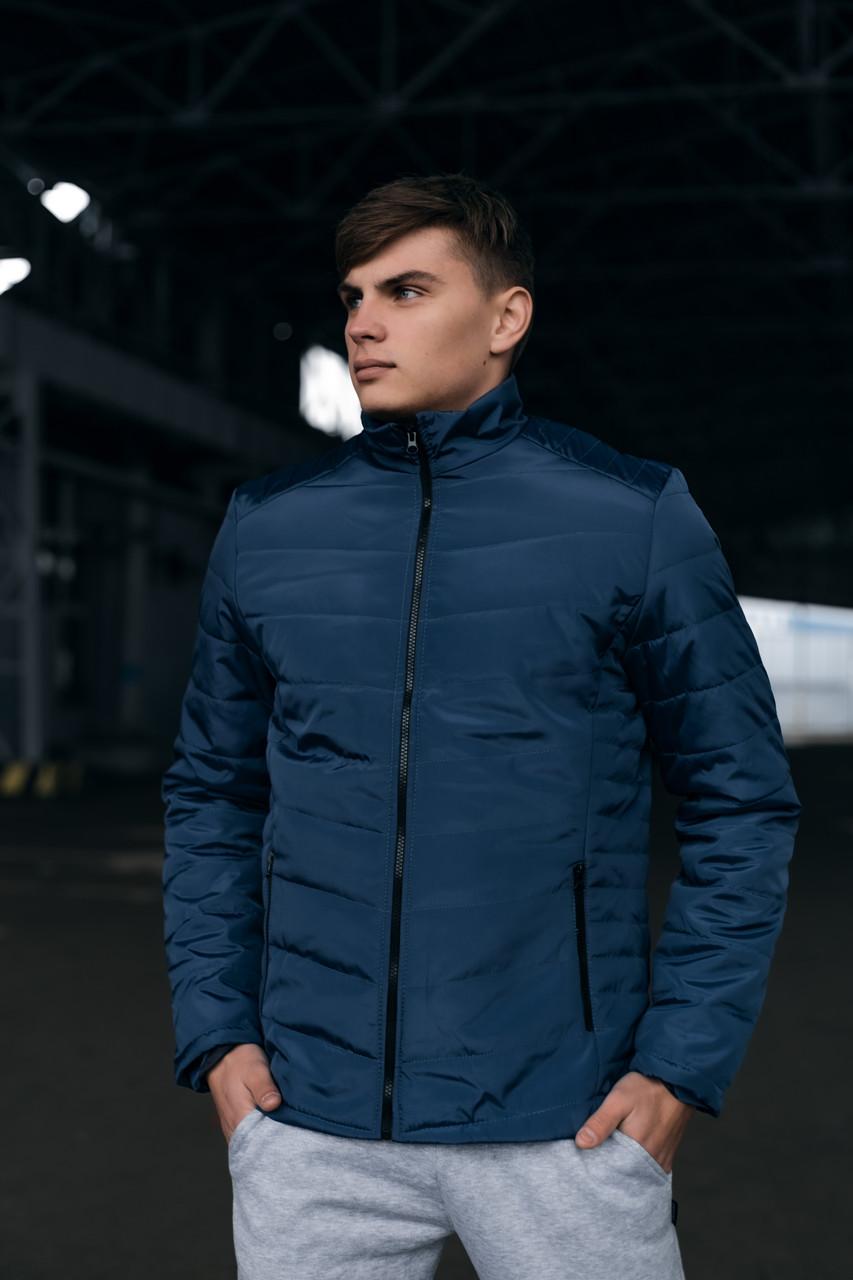 Чоловіча тепла синя куртка (Весна - Осінь)
